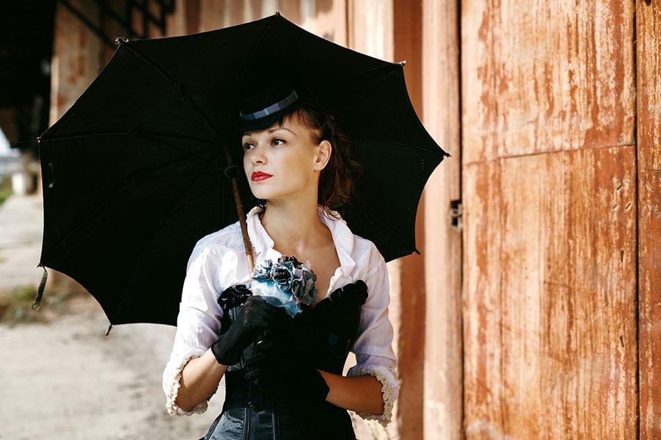 Mariée dans un style steampunk