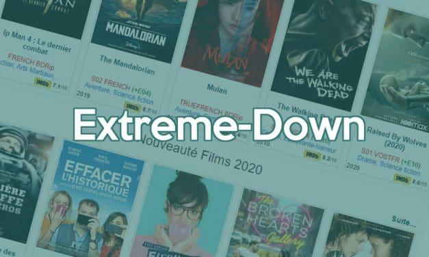 Quelle est la nouvelle adresse officielle de Extreme-Down ?